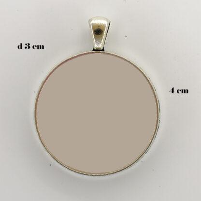 ciondolo base cerchio 14 misure