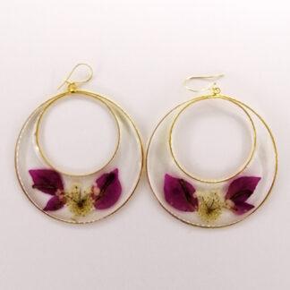 orecchino doppio cerchio