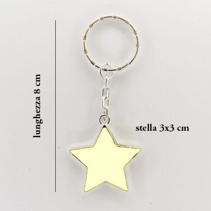 portachiavi stella misure