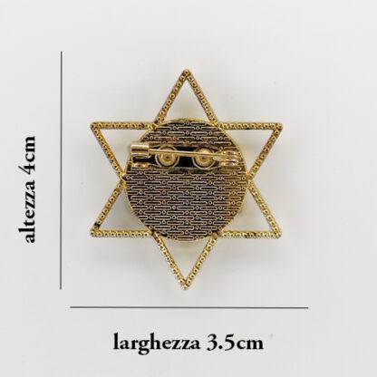 spilla 12 stella misure