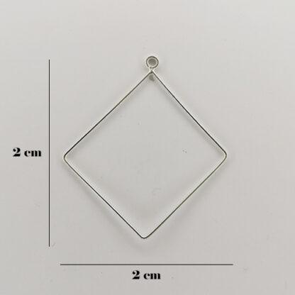 orecchini quadrato misure