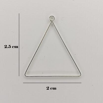 orecchini triangolo misure